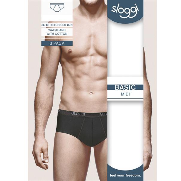Sloggi Men Basic Midi 2-Pack