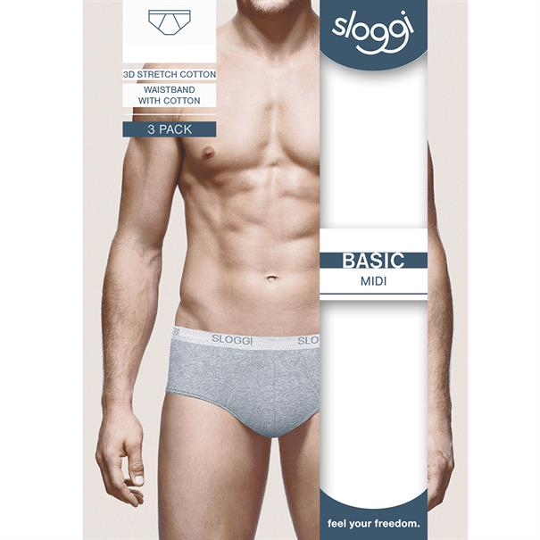 Sloggi Men Basic Midi 2-Pack