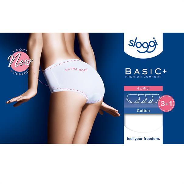 Sloggi Women Slip Midi Basic 4-Pack Zwart